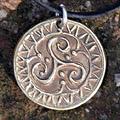 Triskel Coin Pendant