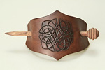 Leather hair barrette 2